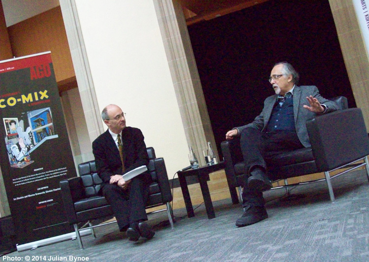 Bynoe on arts edition 28 december 2014 art gallery of ontario ceo matthew teitelbaum left in a sit down interview with cartooning legend and advocate art spiegelman right december 17 2014 publicscrutiny Images