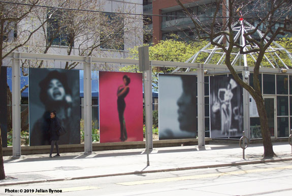 cafe102858 Left-right: Abbey Lincoln, Eartha Kitt, Koko Taylor and Katherine Dunham as  part of Carrie Mae Weems' Slow Fade to Black installation montage near  Metro ...